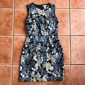 H&M Embroidered Floral Shift Dress Cocktail